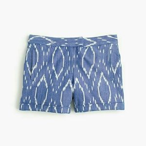 J.Crew Cotton Shorts in Sunfaded Ikat Size 0